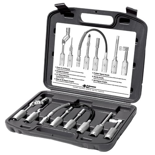 Wilmar W50049 Cordless Grease Gun Accessories, 7-Piece