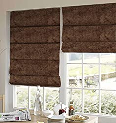 PRESTO BAZAAR 1 Piece Polyester Solid Blind - Brown