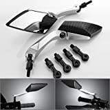 Racing Motorcycle Accessories Adjustable Multi Angle Rear View Blind Spot Chrome Plated Billet Aluminum Handle Bar End Convex Rearview Left   Right Side Mirrors Fit For Buell Blast Lightning XB12S XB12Scg XB12ST CityX M2 Cyclone XB12X Lightning XB1 XB9SX S1 X1 XB9SX XB9S Ulysses XB12