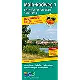 Radwanderkarte Main-Radweg 1 Ochsenkopf /Creussen - Würzburg: Mit Ausflugszielen, Einkehr- & Freizeittipps, wetterfest, reissfest, abwischbar, GPS-genau. 1:50000