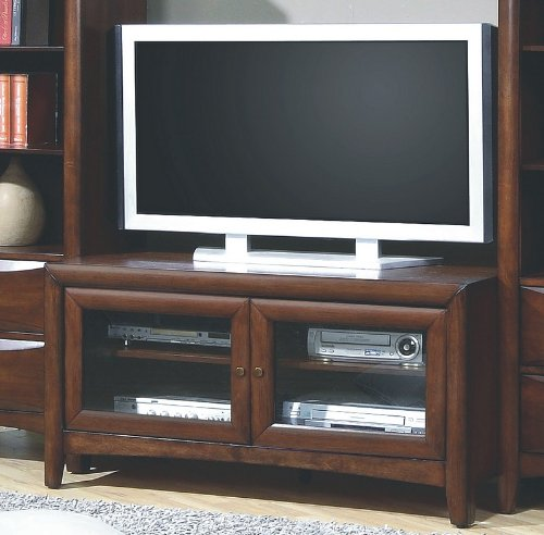 Contemporary walnut finish lcd plasma flat panel tv for Best tv stands review