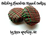 6 CHRISTMAS HOLIDAY Red Green Mix decorated Milk Chocolate Covered Oreo Cookies Edible Gift Stocking Stuffer Gift Box