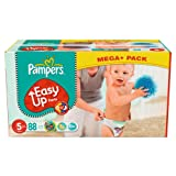 Pampers Windeln Easy Up Gr.5 Junior 12-18kg Mega plus Pack, 88 Stück