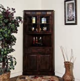 Sunny Designs 2451DC Santa Fe Corner China Cabinet in Dark