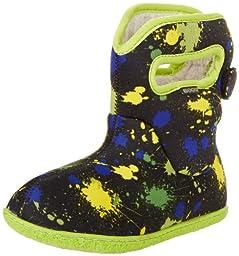 Bogs Paint Splat Waterproof Rain Boot (Toddler), Blue Multi,7 M US Toddler