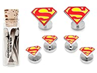 Enamel Superman Shield Tuxedo Stud Se…