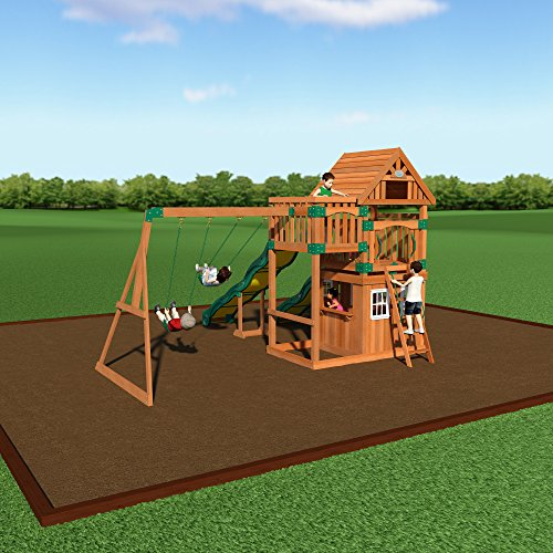 backyard discovery journey all cedar wood playset assembly included