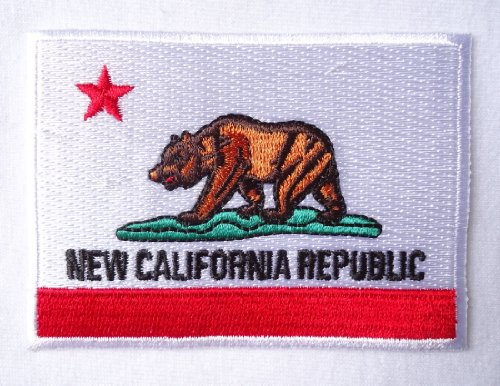 "New California Republic Fallout Flag ERROR biker patch [2.5"" x 3.5 "" ]"