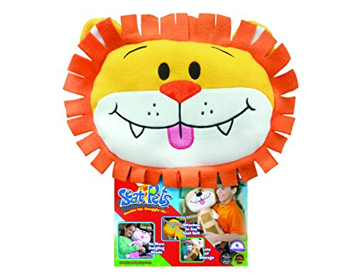 Seat Pets Yellow/Orange Lion Car Seat Toy