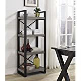62-Inch Industrial Grey Wood Media Tower