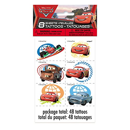 Disney Cars Tattoos, 48ct - 1