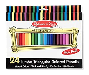 Melissa & Doug Jumbo Triangular Colored Pencils (Set of 24)