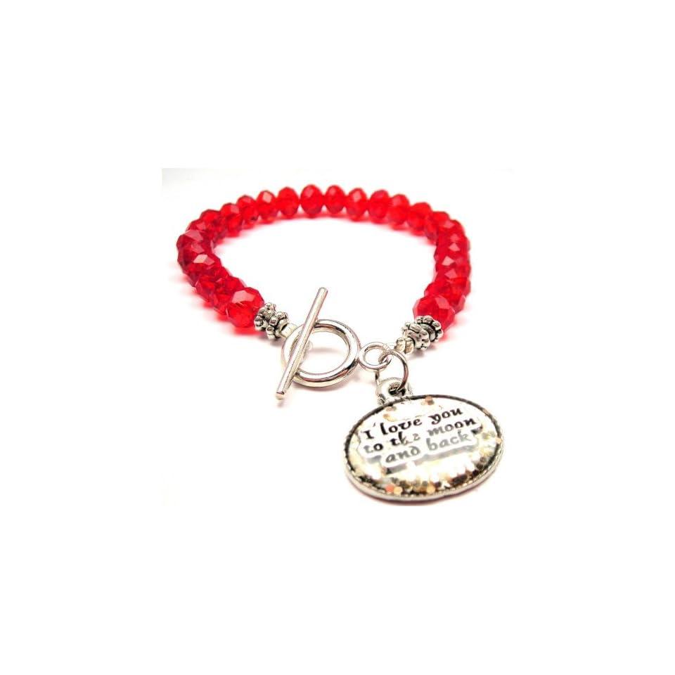 ChubbyChicoCharms Crystal Beaded Toggle Bracelet Charm Bracelets Jewelry