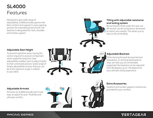 Amazing Vertagear Racing Series S Line Sl4000 Gaming Chair Black Red Edition Vg Sl4000 Rd Andrewgaddart Wooden Chair Designs For Living Room Andrewgaddartcom