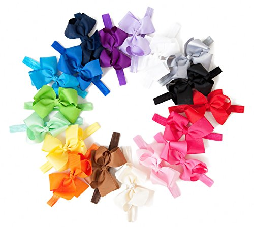 Ema Jane - Large (4.3 In Wide) Grosgrain Hair Bows On Iridescent Headbands front-327039