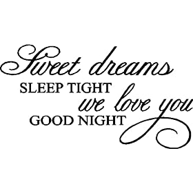 SWEET DREAMS...WALL WORDS QUOTES SAYINGS LETTERING DECALS