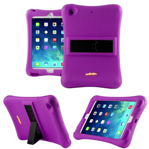 Anitoon Amplifier Speaker Case Cover For Ipad Mini & Ipad Mini With Retina Display Purple With Armor Body And Stand