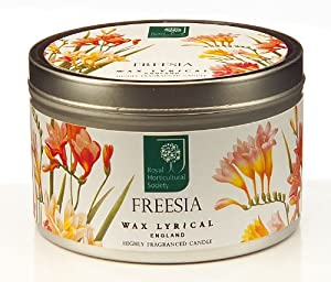 Wax Lyrical Royal Horticultural Society Tin Candle, Freesia from Wax Lyrical
