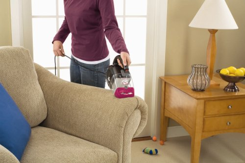 The Bissell 33A1 is the only handheld vacuum on this list but does extremely well to remove pet hair on all surfaces.