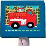 Oopsy Daisy Fine Art for Kids NL198406MG Fire Truck Night Light