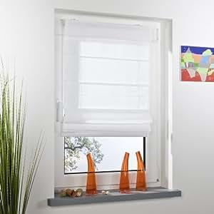 raffrollo klemmfix ohne bohren wei 90 x 130cm. Black Bedroom Furniture Sets. Home Design Ideas
