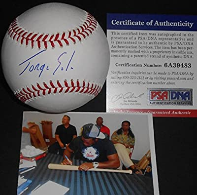 Jorge Soler Chicago Cubs PSA DNA Autographed Signed Baseball In the Presence COA