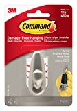 Command Forever Classic Metal Hook, Small, Brushed Nickel, 1-Hook (FC11-BN-ES)