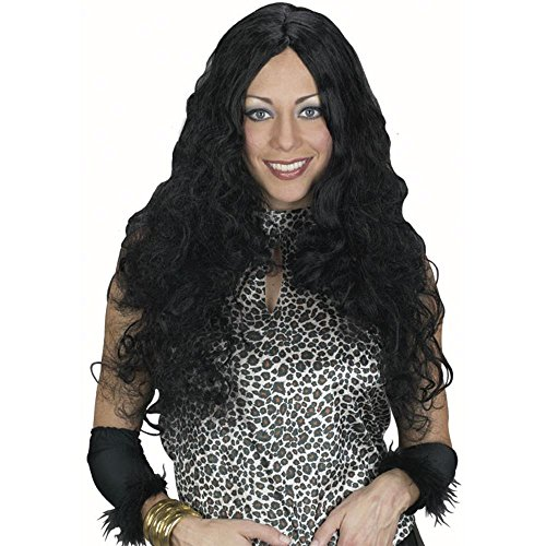Black Seductress Costume Wig