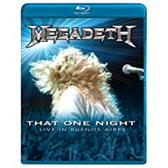 Megadeth: That One Night: Live in Buenos Aires [Blu-ray] by Megadeth, Dave Mustaine, Glen Drover, James LoMenzo and Shawn Drover