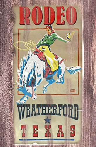 POSTER PRINT Texas Rodeo Weatheford Tx 1950s 11 x 17 old west (Vintage Rodeo Posters compare prices)