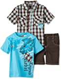 Little Rebels Little Boys Three-Piece Rebel Legend Short Set