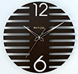 Random Wings Wooden Wall Clock (Brown)