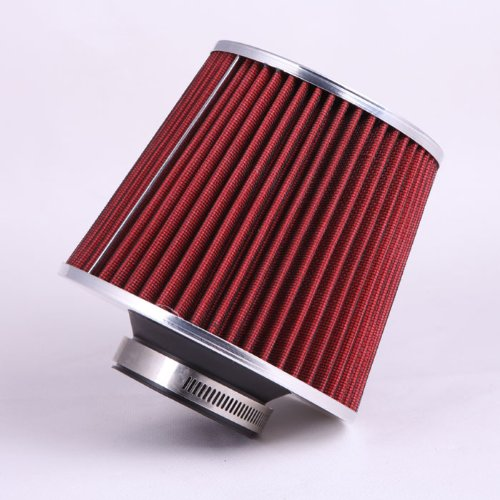 Fastwayracer Af6-25-Rd, Universal High Performance Red 2.5'' Inlet Cone Dry Flow Air Filter Oil Free front-71106