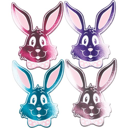"Foil Bunny Silhouettes Assortment Printed 2 Sides 15"" 1/Pkg - 1"