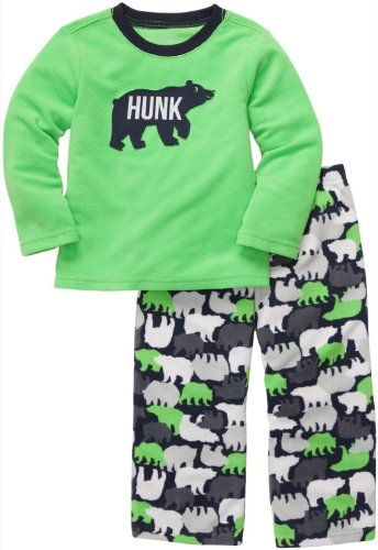 Carter'S Baby Boys' 2-Pc L/S Embroidery Set - Polar Bear - 12 Months front-173279