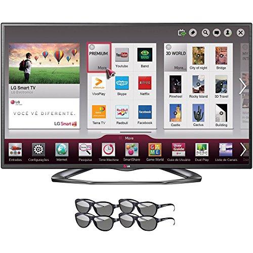 """Lg 50La6200 50"""" 3D Smart Tv 1080P Slim Led Hdtv (Venezuela)"""
