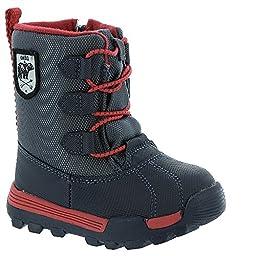 OshKosh B\'Gosh Polar B Winter Boot (Toddler/Little Kid), Navy/Red, 10 M US Toddler
