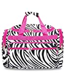 Zebra Hot Pink Duffel Bag 19″