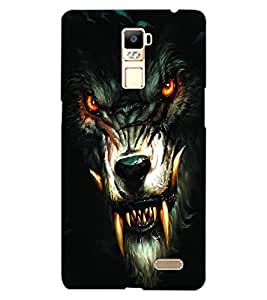 ColourCraft Wolf Look Design Back Case Cover for OPPO R7
