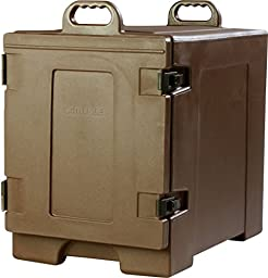 Carlisle PC300N01 Cateraide Insulated Front End Loading Food Pan Carrier, 5 Pan Capacity, Brown