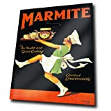 MARMITE 1930s METAL Wall Sign Plaque Vintage Advert Ad poster (A3 Large: 40cm x 30cm - 16