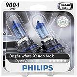 Philips 9004 CrystalVision Ultra Upgrade Headlight Bulb, 2 Pack