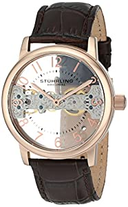 Stuhrling Original Men's 680.02 Legacy Analog Display Mechanical Hand Wind Brown Watch