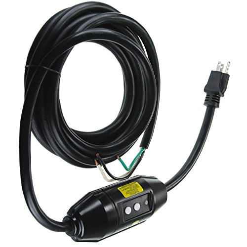 GFCI Cord Replacement for Hot Tub, Spa & Pool - 120V/15A Inline Style (Hot Tub Freeflow compare prices)