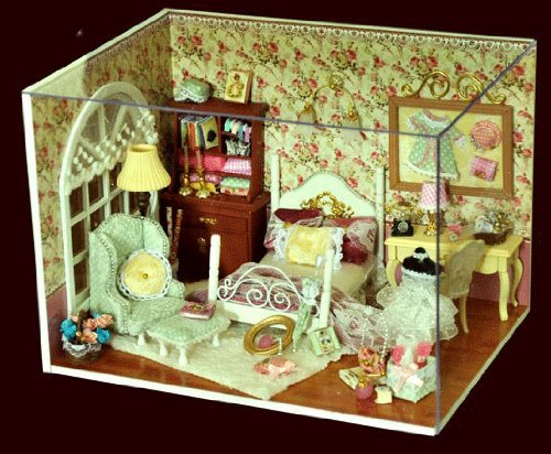 Big Dollhouse Miniature Diy Wood Frame Kit With Light Model Sweet Promise Gift Ldollhouse98-D74
