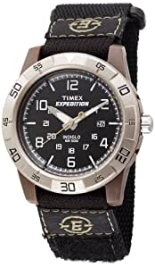 Timex Men's T49834 Expedition Rugged Analog Black Fast Wrap Velcro Strap Watch