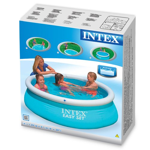 intex 6ft x 20in easy set swimming pool 28101 at shop ireland. Black Bedroom Furniture Sets. Home Design Ideas