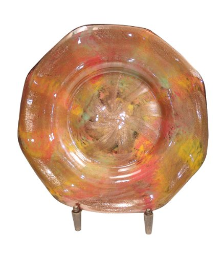 Dale Tiffany AG500299 Doheny Decorative Charger Plate with Stand, 20-Inch Diameter