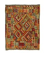 Design Community By Loomier Alfombra Kelim Kaudani (Rojo/Multicolor)