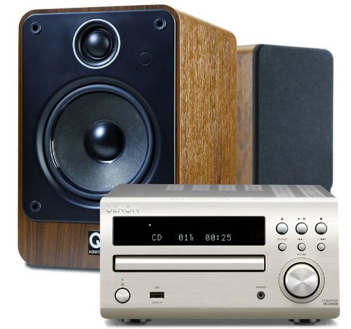 Denon DM39DAB Silver + Q Acoustics 2020i Walnut (R) Black Friday & Cyber Monday 2014